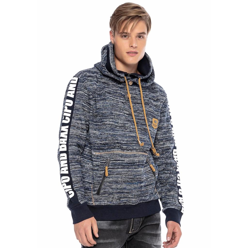 Cipo & Baxx Kapuzensweatshirt, mit aufwendigen Details
