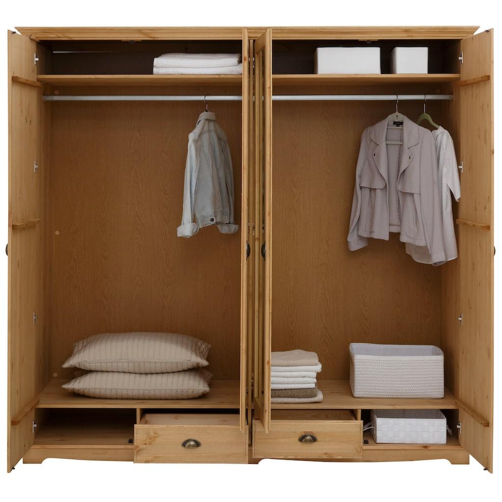 Home affaire Kleiderschrank »Eva«, aus Kiefer massiv