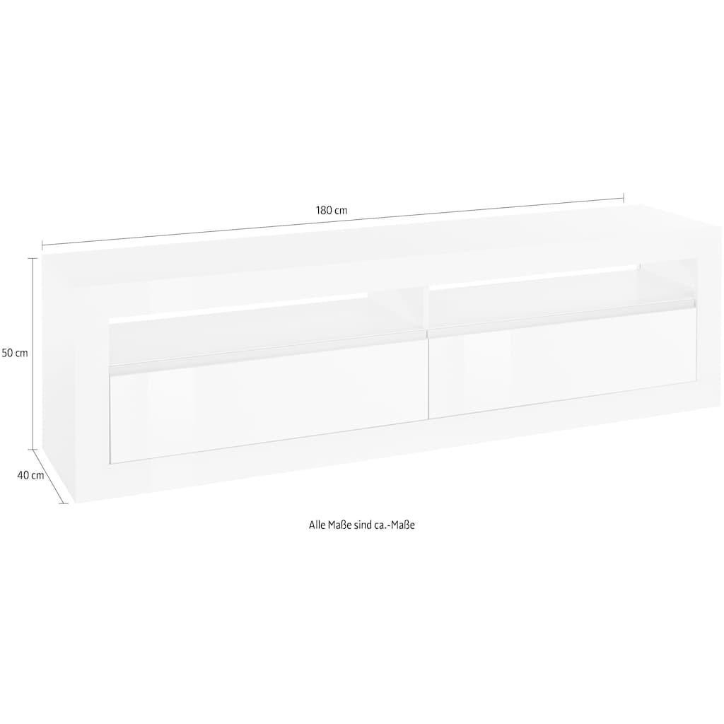 Tecnos Lowboard »Zoe«, Breite 180 cm