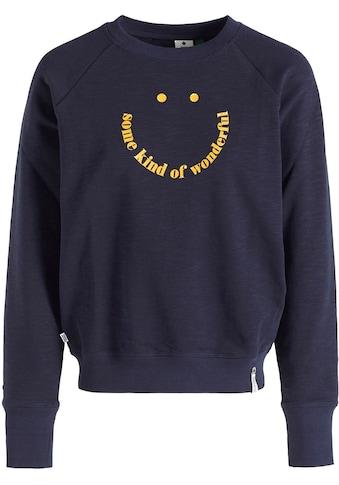 khujo Sweatshirt »Silicia SMILE«, Rundhals Sweatie mit coolen Frontdruck kaufen