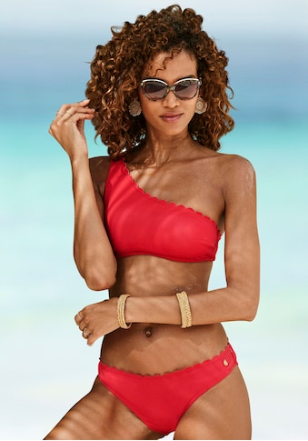 LASCANA Bustier-Bikini-Top »Scallop«, in One-Shoulder-Form kaufen