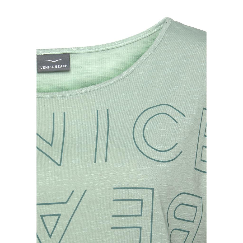 Venice Beach Rundhalsshirt, mit Logoprint