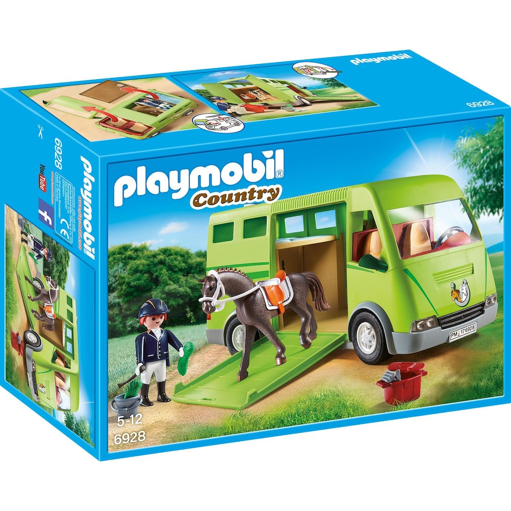 Playmobil® Konstruktions-Spielset »Pferdetransporter (6928), Country«, Made in Europe