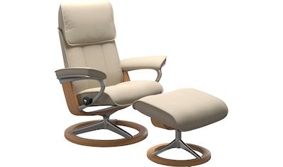 Stressless® Relaxsessel »Admiral«, mit Hocker, mit Signature Base, Größe M & L, Gestell Eiche kaufen
