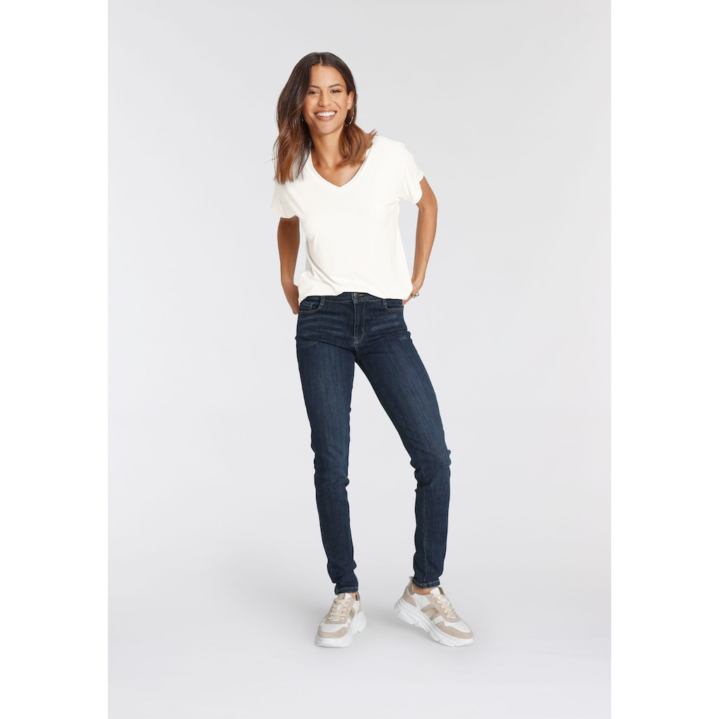 soyaconcept 5-Pocket-Jeans »SC-KIMBERLEY PATRIZIA«, in dark blue, schmal geschnitten