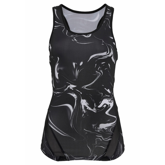 LASCANA ACTIVE Sporttop »Black Marble«