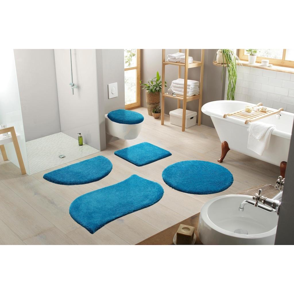 my home Badematte »Merida«, Höhe 32 mm, fußbodenheizungsgeeignet