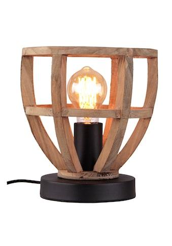 Brilliant Leuchten Matrix Wood Tischleuchte 20cm antik holz/schwarz korund kaufen