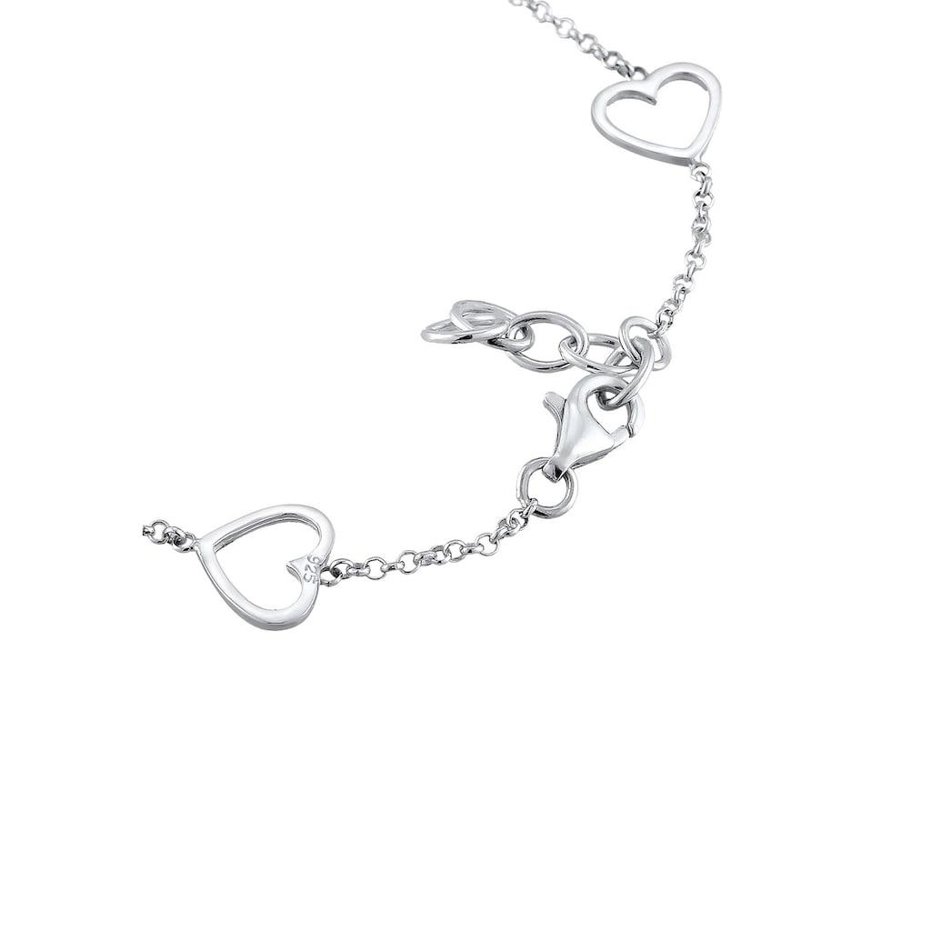Elli Armband »Herz Liebe Cut-Out Basic Trend Romantik 925 Silber«