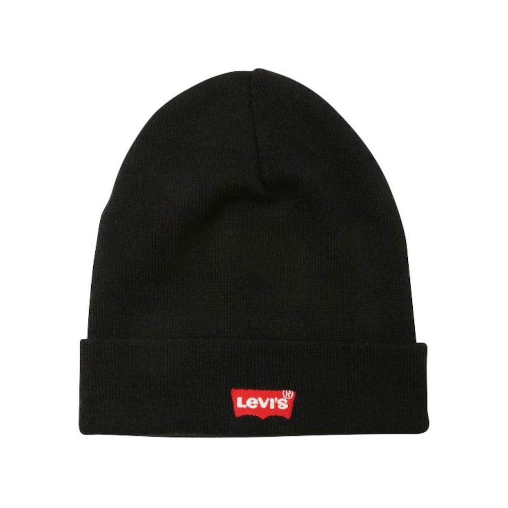Levi's® Strickmütze, RED BATWING EMBROIDERED SLOUCHY BEANIE