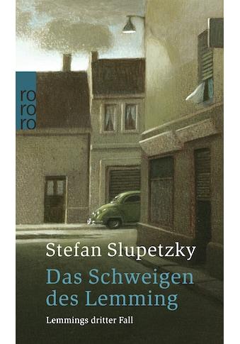 Buch »Das Schweigen des Lemming / Stefan Slupetzky« kaufen