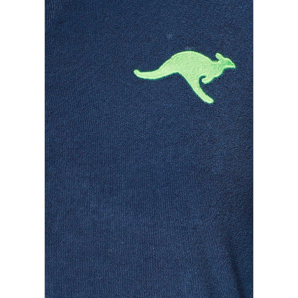 KangaROOS Damenbademantel »Kira«, mit Reißverschluss und Bindekordel