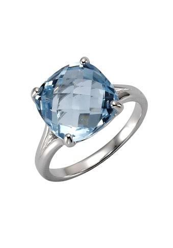 Zeeme Fingerring »925/- Sterling Silber rhodiniert Blautopas«, Ring kaufen