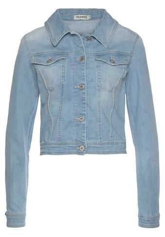 Please Jeans Jeansjacke »V 491«, im Used-Look kaufen