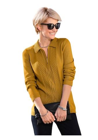 Casual Looks Pullover mit gerippten Ärmel -  und Saumabschluss kaufen