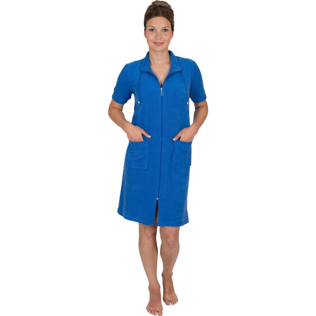 Wewo fashion Damenbademantel »033«, Kragen mit Kordel