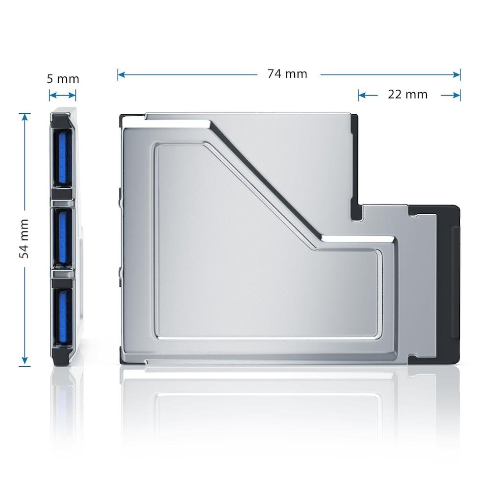 CSL 3 Port USB 3.0 ExpressCard PCMCIA Schnittstellenkarte 54mm »3x USB 3.0 Buchse Typ A«