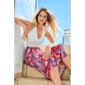 Aniston CASUAL Sommerrock, mit trendfarbenen Bläterdruck