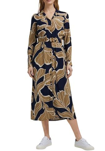 Esprit Collection Blusenkleid, (mit Gürtel), mit plakativem Botanik-Alloverprint und durchgehender Knopfleiste kaufen