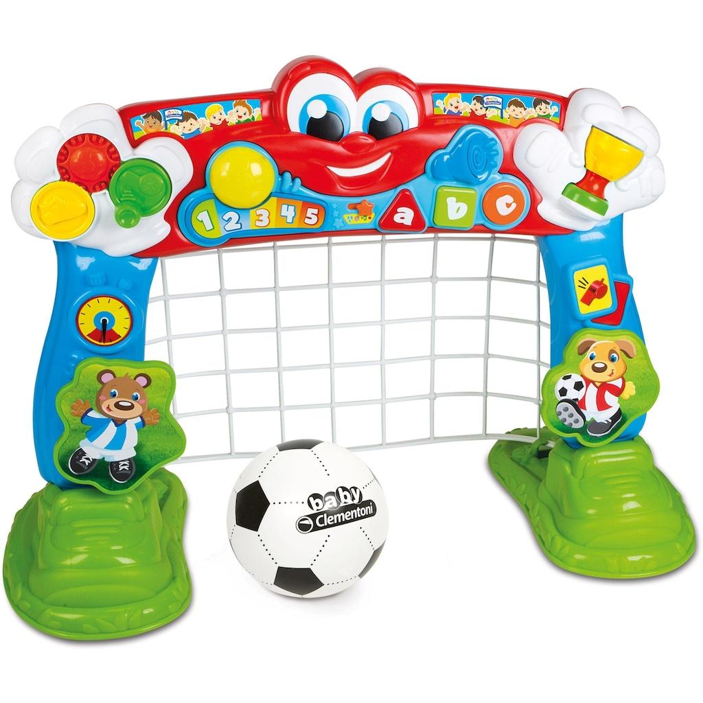 Clementoni® Lernspielzeug »Clementoni Baby - Interaktives Fußballtor«, mit Ball und Lernfunktion
