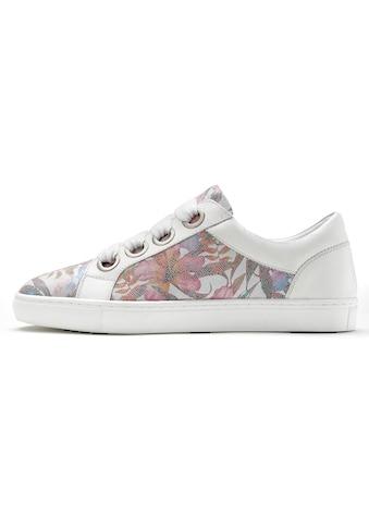 LASCANA Sneaker, aus Leder mit Blumenprint kaufen