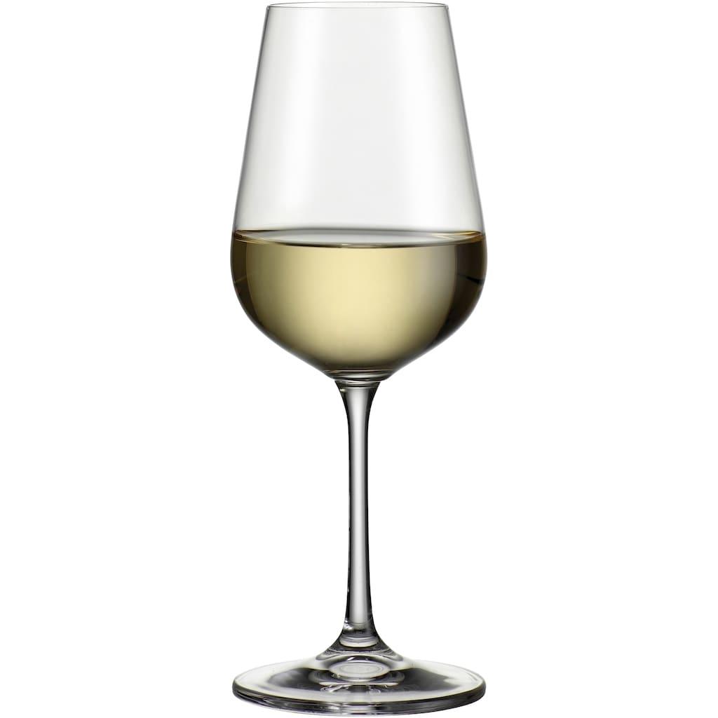 BOHEMIA SELECTION Gläser-Set, (Set, 24 tlg., 6 Rotweinkelche, 6 Weißweinkelche, 6 Sektkelche, 6 Becher), Kristallglas