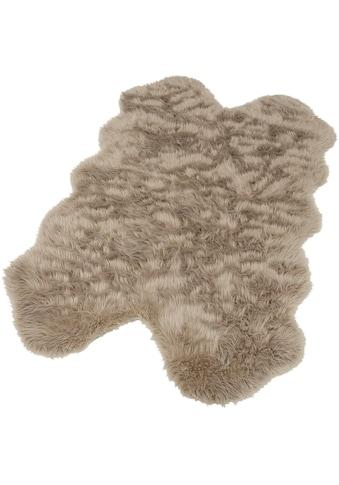 Home affaire Fellteppich »Dena«, fellförmig, 60 mm Höhe, Kunstfell, sehr weicher Flor, Wohnzimmer kaufen