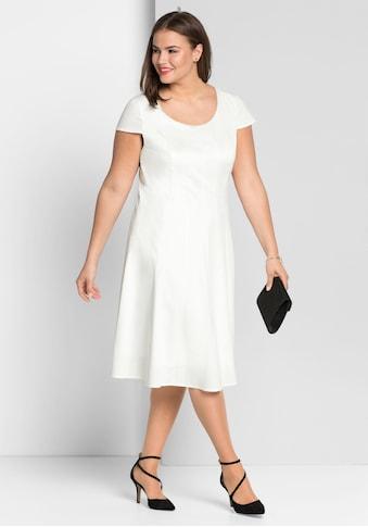Sheego Cocktailkleid, in Bahnenform kaufen