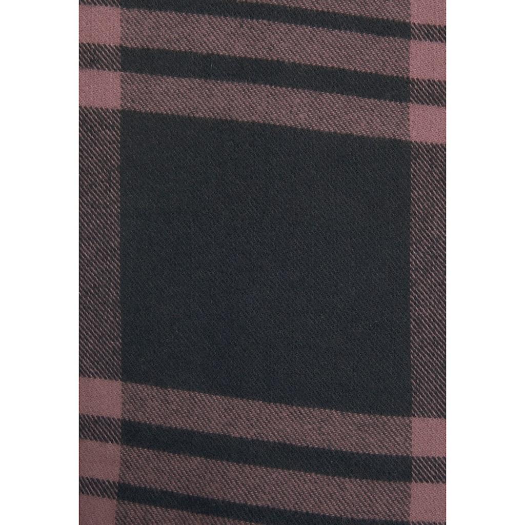 LASCANA Karobluse, aus weichem Flanell