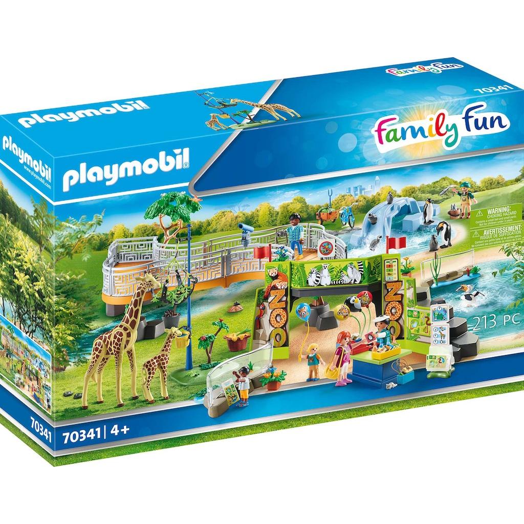 Playmobil® Konstruktions-Spielset »Mein großer Erlebnis-Zoo (70341), Family Fun«, (213 St.), Made in Germany