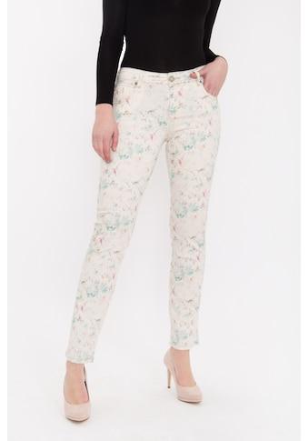 ATT Jeans Röhrenhose »Belinda«, mit floralem Druck und Teilungsnähten kaufen