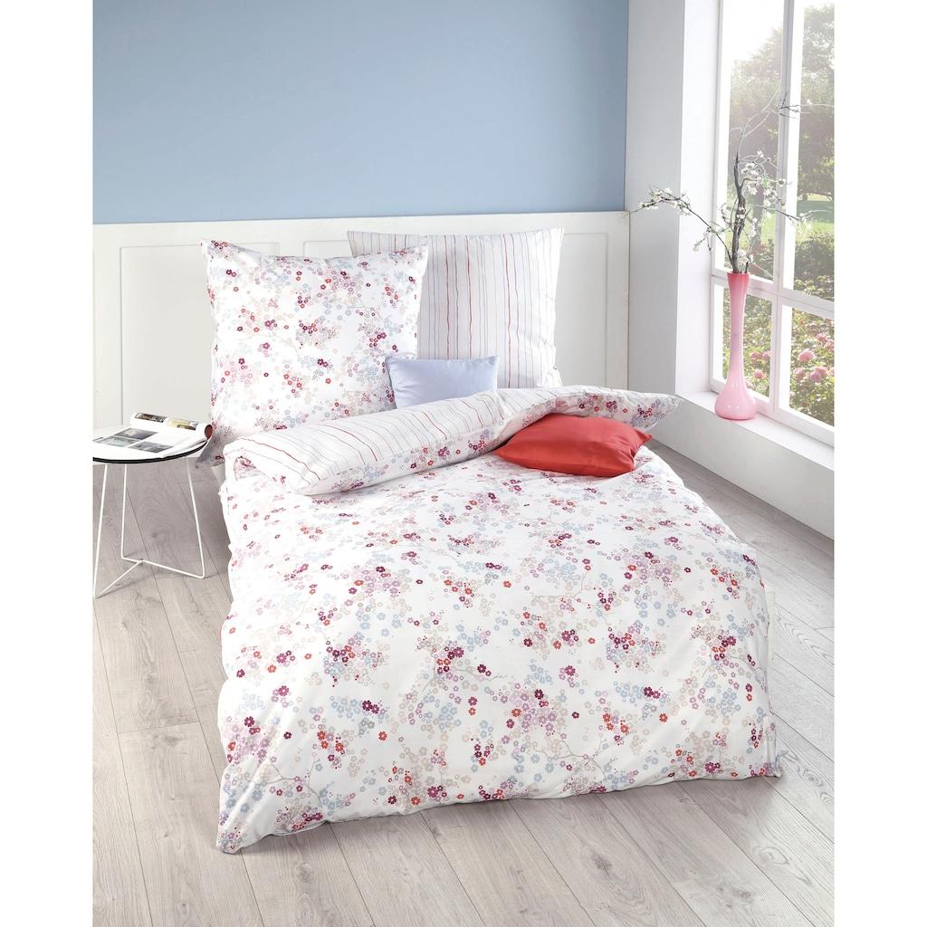 Kaeppel Wendebettwäsche »Sakura«, kleine Blumen und feine Linien