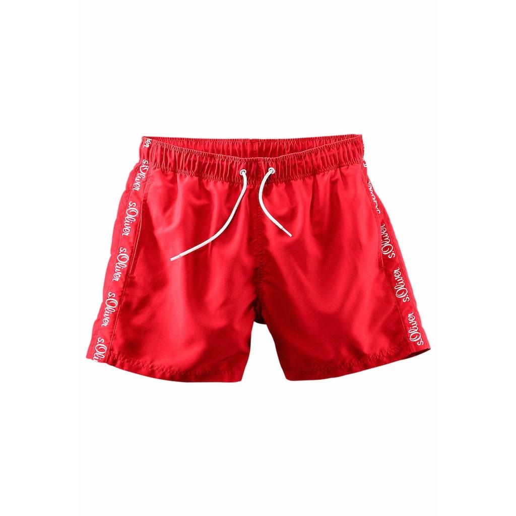 s.Oliver Beachwear Badeshorts, mit seitlichem Logodruck