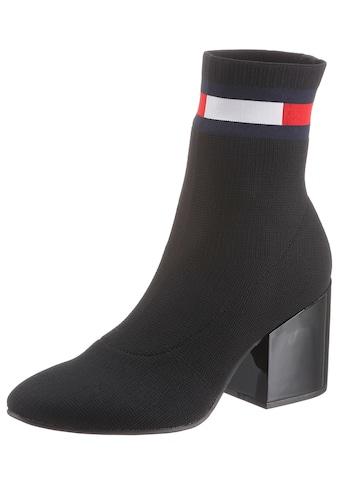 TOMMY JEANS Stiefelette »FLAG SOCK MID HEEL BOOT« kaufen