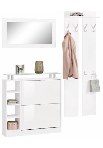 borchardt Möbel Garderoben-Set »Dolly«, (Set, 3 tlg.), mit Glasablage kaufen