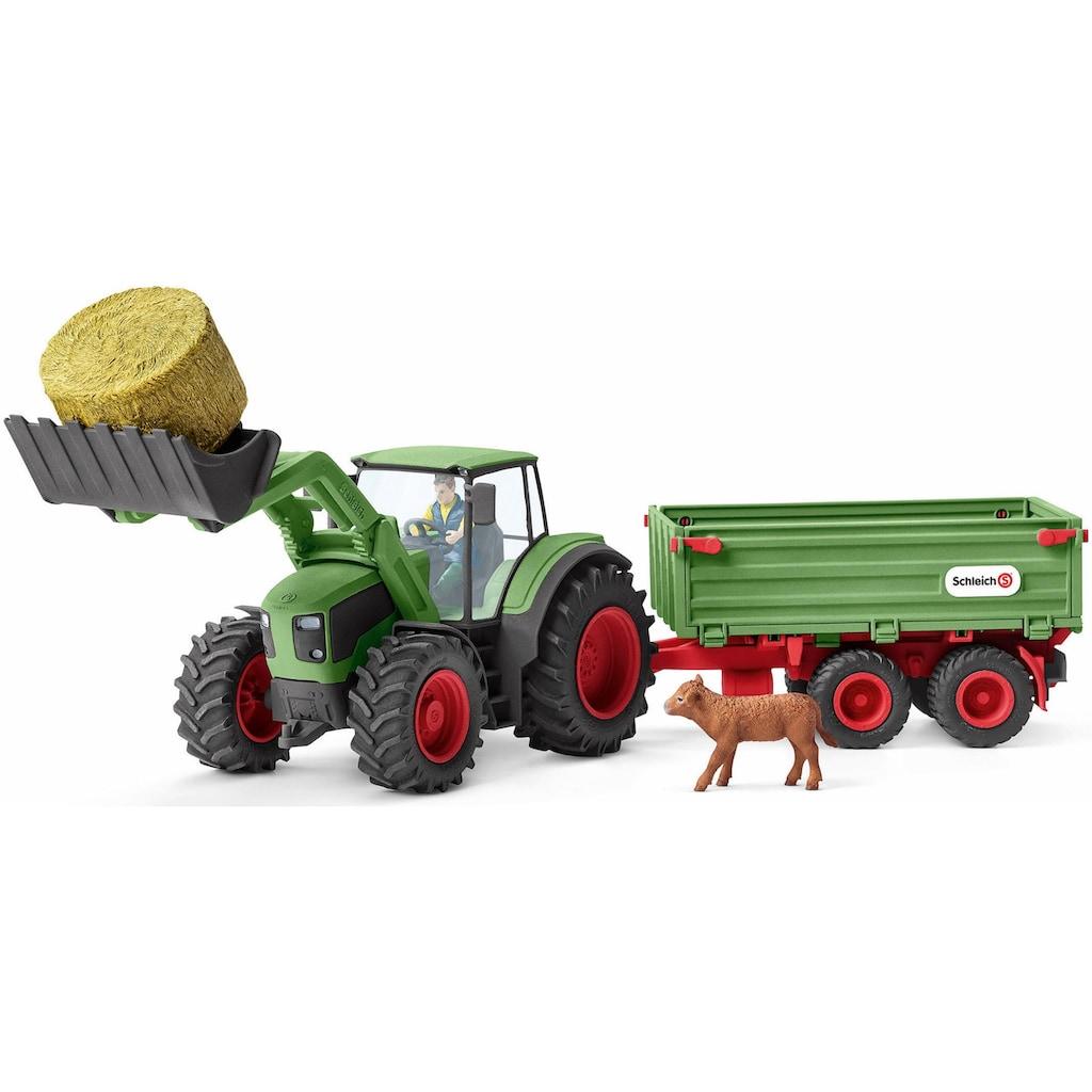 """Schleich® Spielzeug-Traktor """"Farm World, Traktor mit Anhänger (42379)"""" (Set)"""