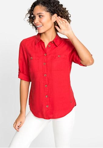 Olsen Klassische Bluse, mit zwei Brusttaschen kaufen