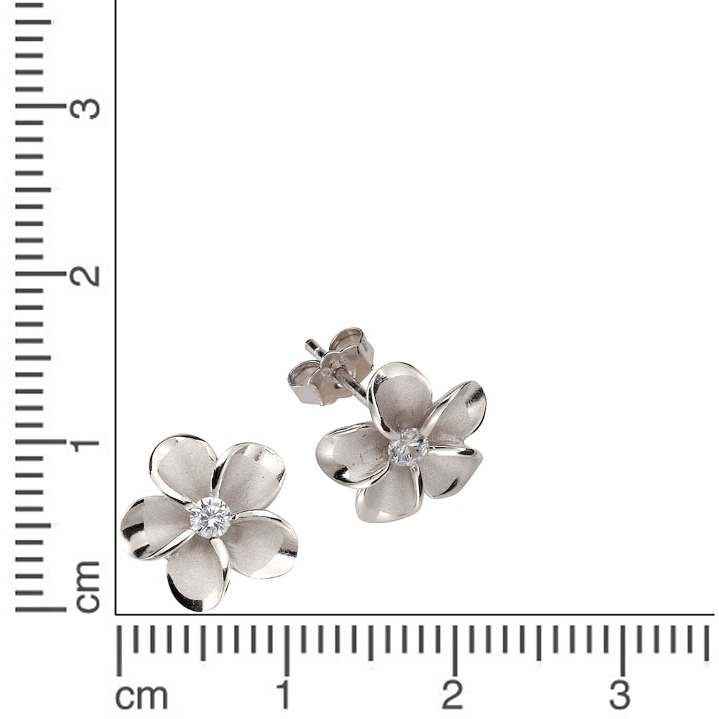 Firetti Paar Ohrstecker »Blume/Blüte«, mit Zirkonia