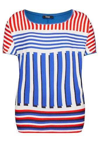 FRAPP Auffälliges T-Shirt mit Materialmix kaufen