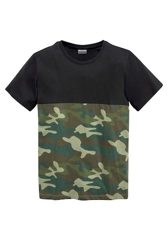KIDSWORLD T-Shirt »tarnfarben mit dunkler Passe« kaufen
