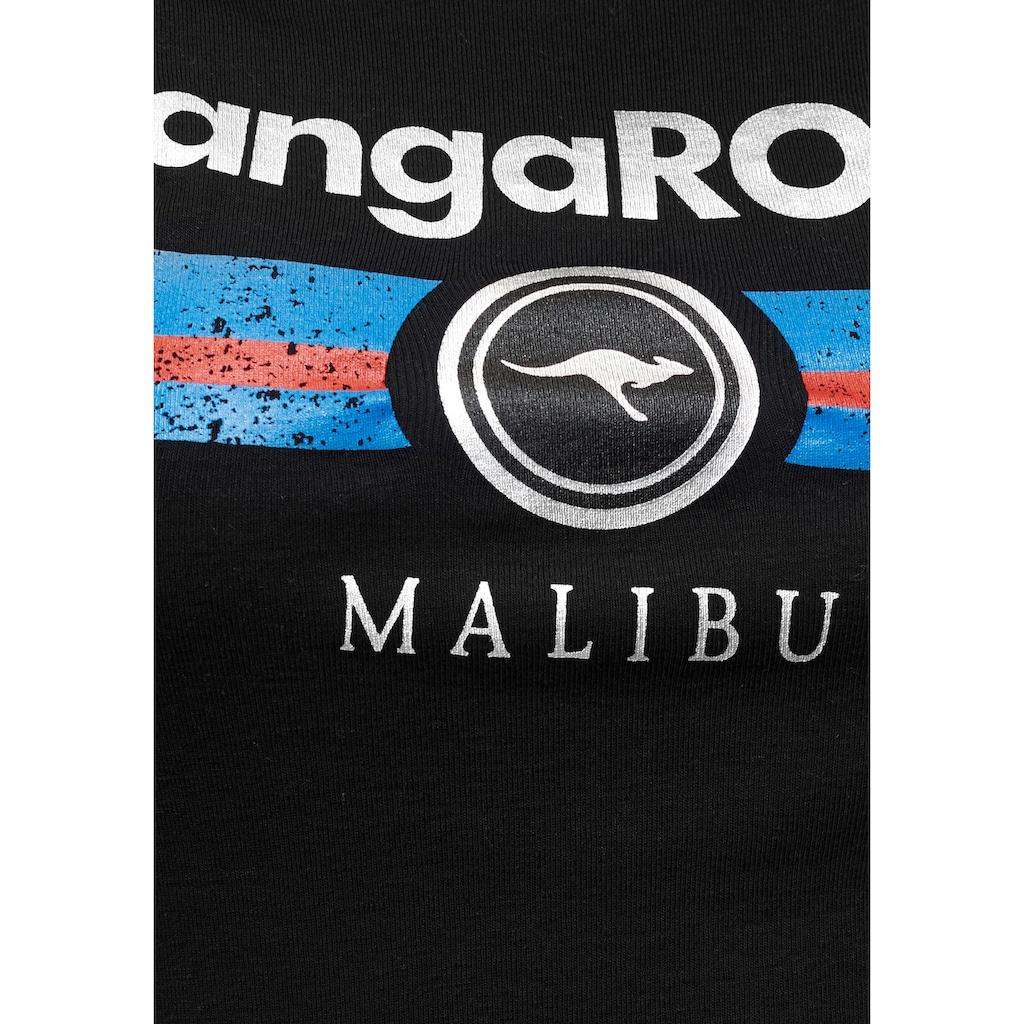 KangaROOS T-Shirt, mit Label Metallic Print