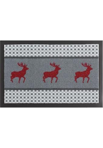 HANSE Home Fußmatte »Hirsch Deer«, rechteckig, 7 mm Höhe, Fussabstreifer, Fussabtreter, Schmutzfangläufer, Schmutzfangmatte, Schmutzfangteppich, Schmutzmatte, Türmatte, Türvorleger, rutschhemmend beschichtet kaufen