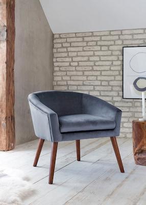 moderner Esszimmersessel in Grau