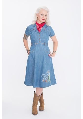 QueenKerosin Hemdblusenkleid »Western«, mit Western Stickereien kaufen
