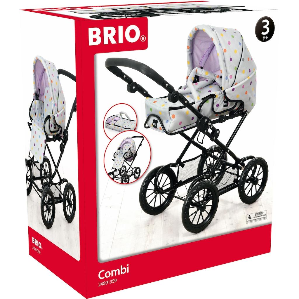 BRIO® Puppenwagen »Combi, Grau mit Punkten«, FSC® - schützt Wald - weltweit