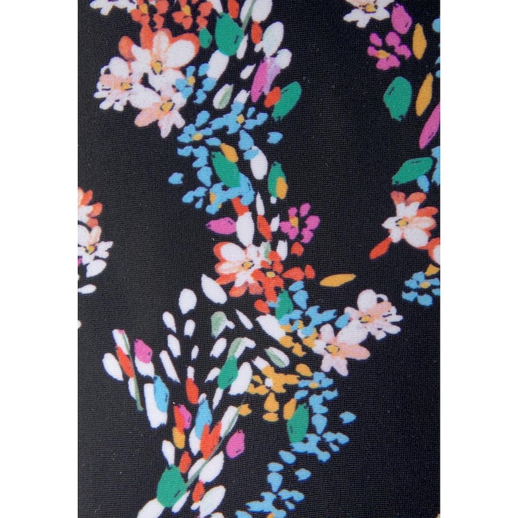 petite fleur Bügel-Tankini, mit floralem Print