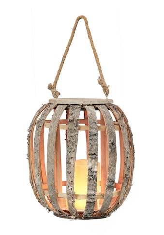 BONETTI LED Laterne »Birken-Laterne«, Warmweiß, mit LED-Kerze und Flammeneffekt kaufen