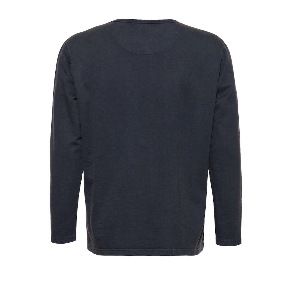 KingKerosin Sweater »Break«, mit Frontprint und Enzymwash-Effekt