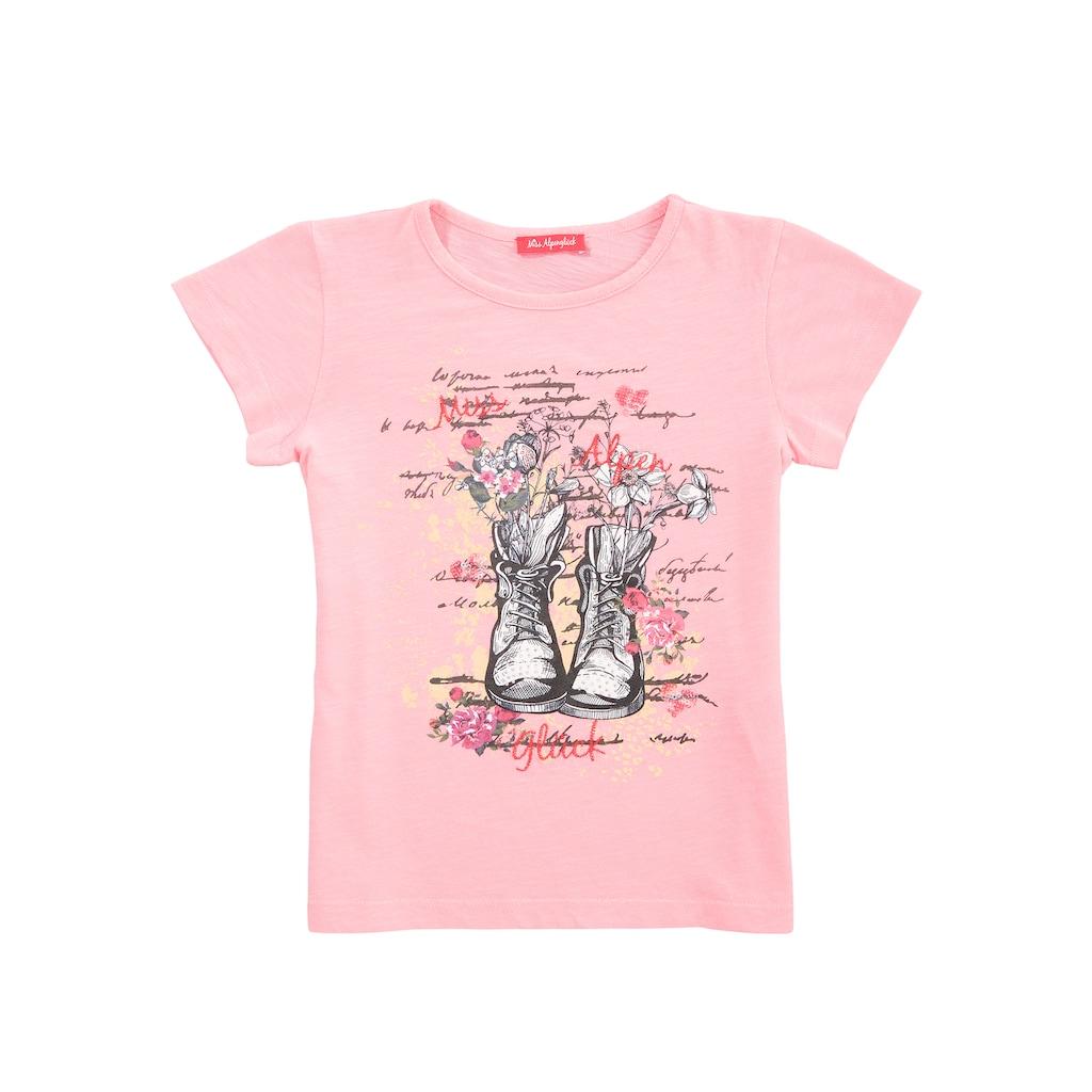 BONDI Trachtenshirt, mit Print und verschiedenen Zierelementen