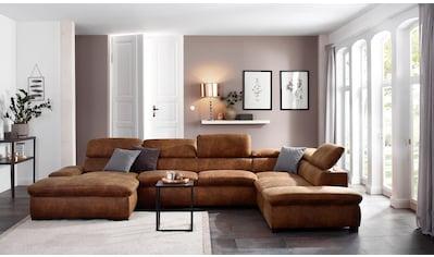 Home affaire Wohnlandschaft »Alberto«, XL, inklusive Kopfteilverstellung kaufen